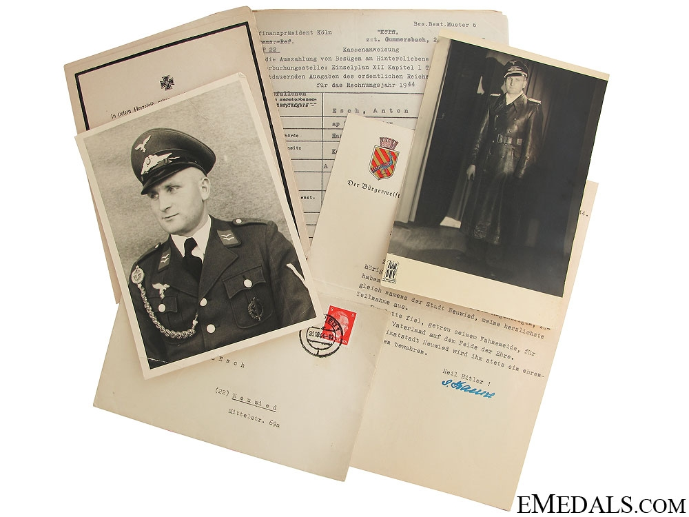eMedals-Photos & Documents to KIA Oberleutnant