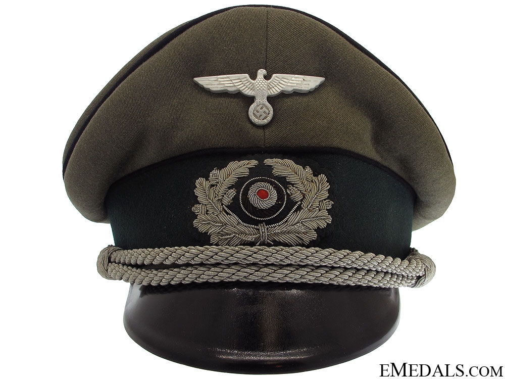 eMedals-Pionier Officer's Visor Cap by Erel