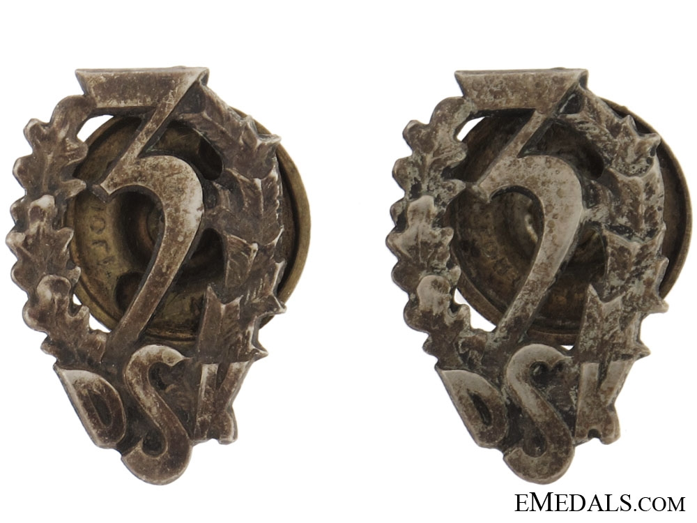 eMedals-Pair of Collar Badges