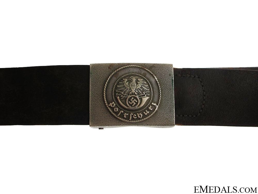 eMedals-1935 Postschutz Belt & Buckle
