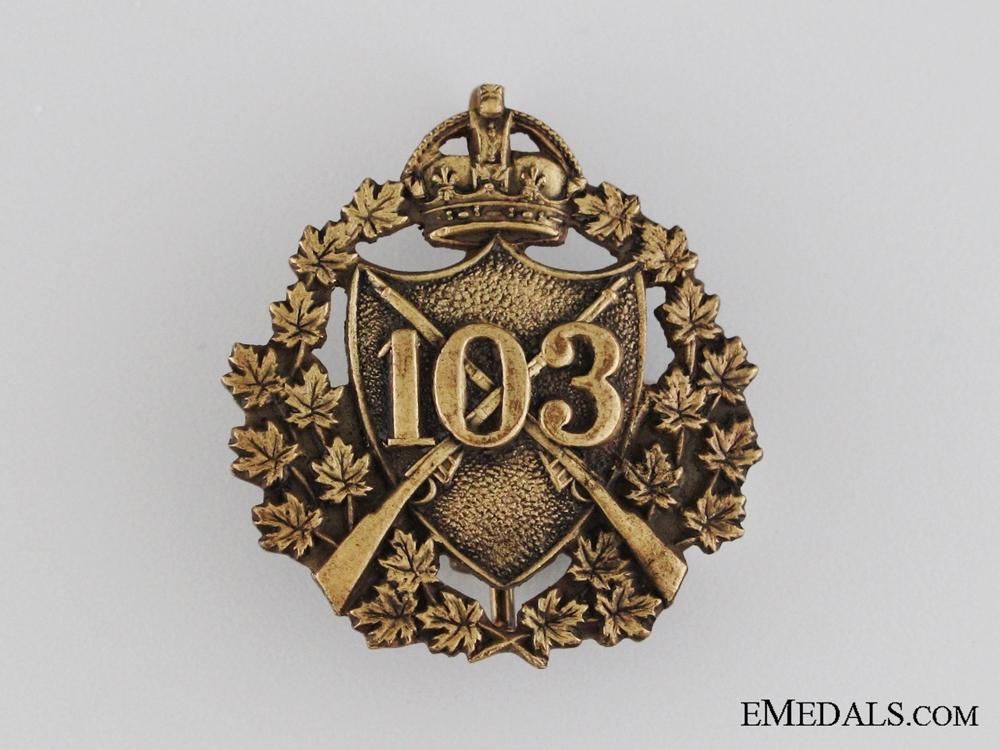 eMedals-Pre-WWI 103rd Regiment Calgary Rifles Collar Tab
