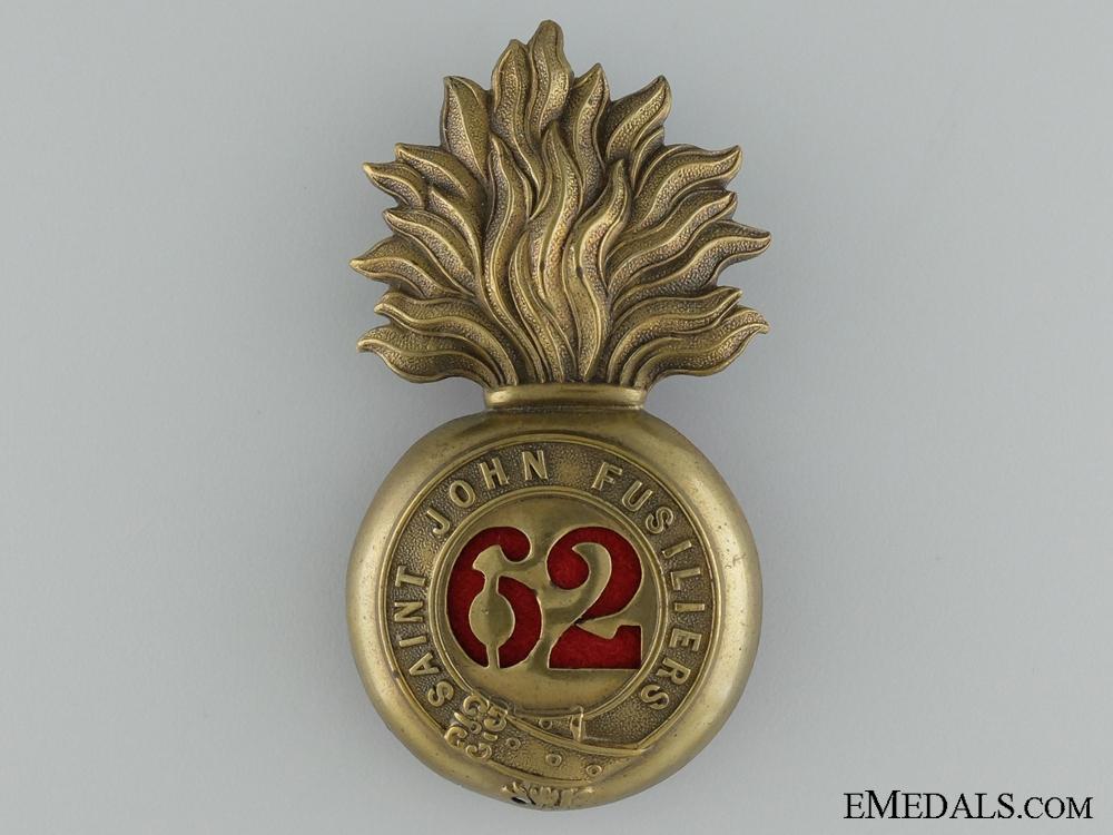 eMedals-Pre-WWI 62nd Regiment Saint John Fusiliers Cap badge