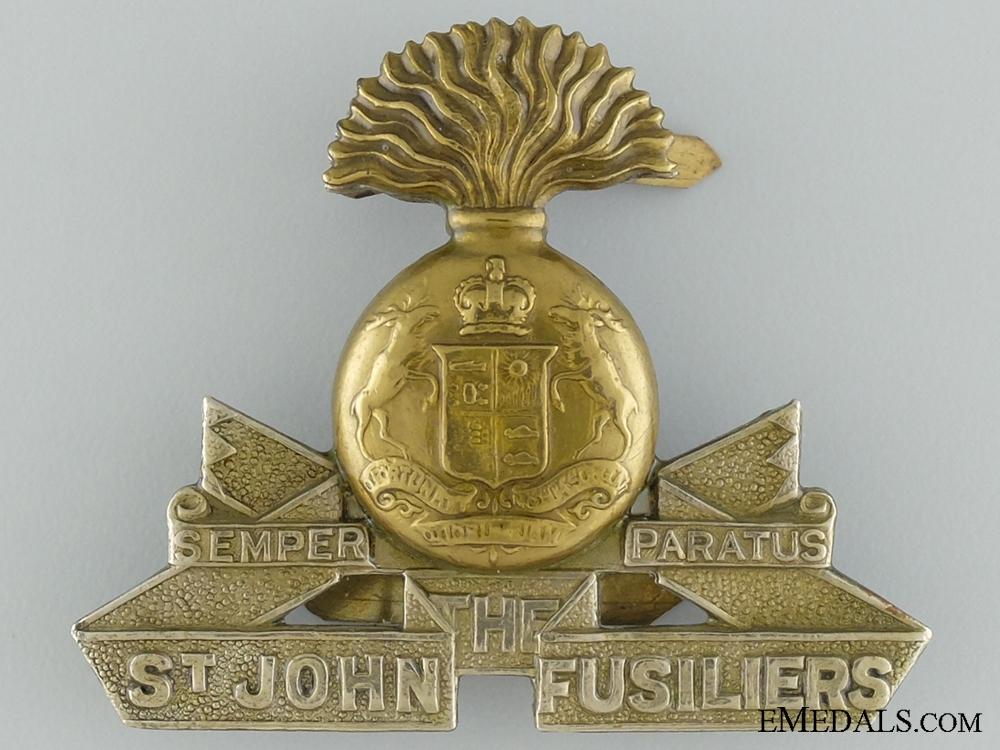 eMedals-Pre-WWII Saint John Fusiliers Cap Badge