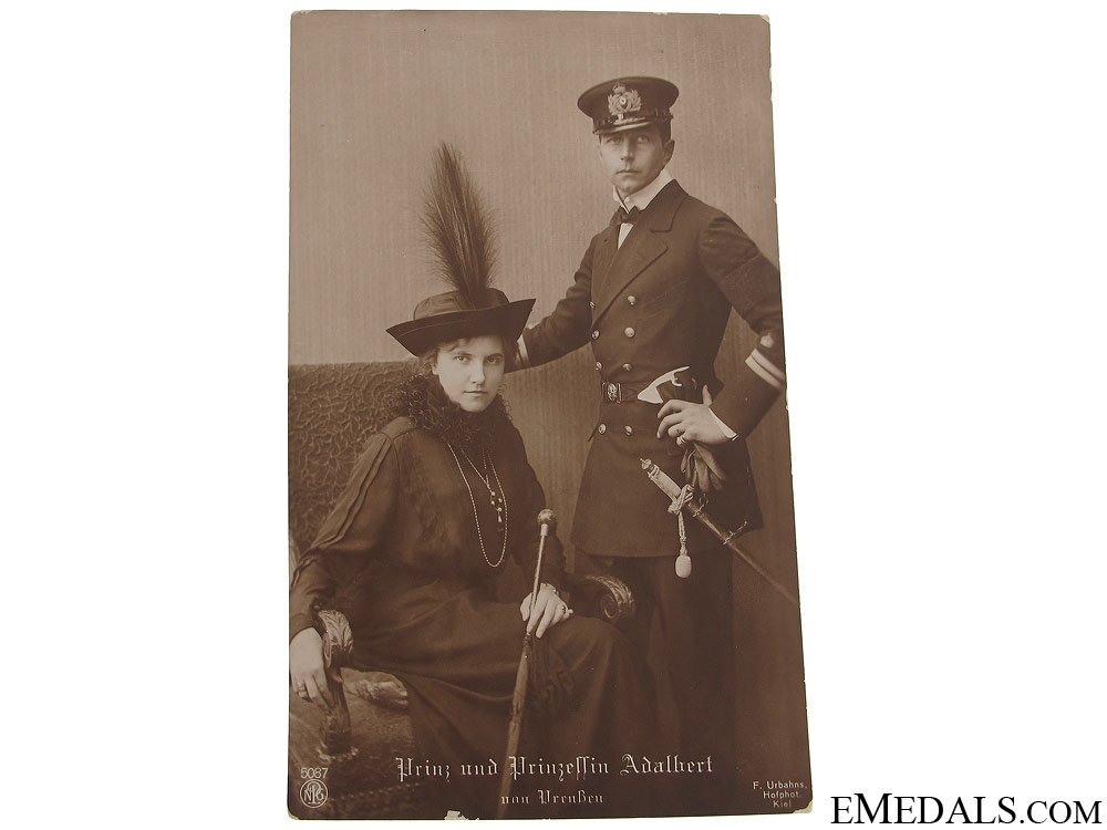 eMedals-Prince and Princess Adalbert Postcard
