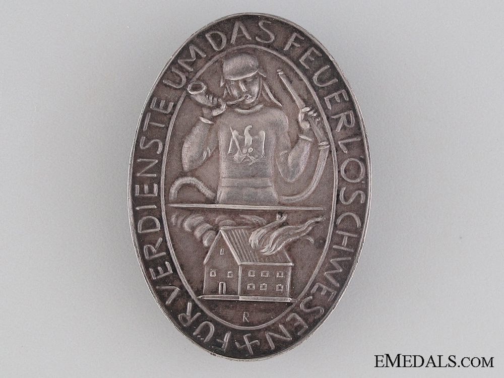 eMedals-Prussian Fireman's Honor Badge 1934-36