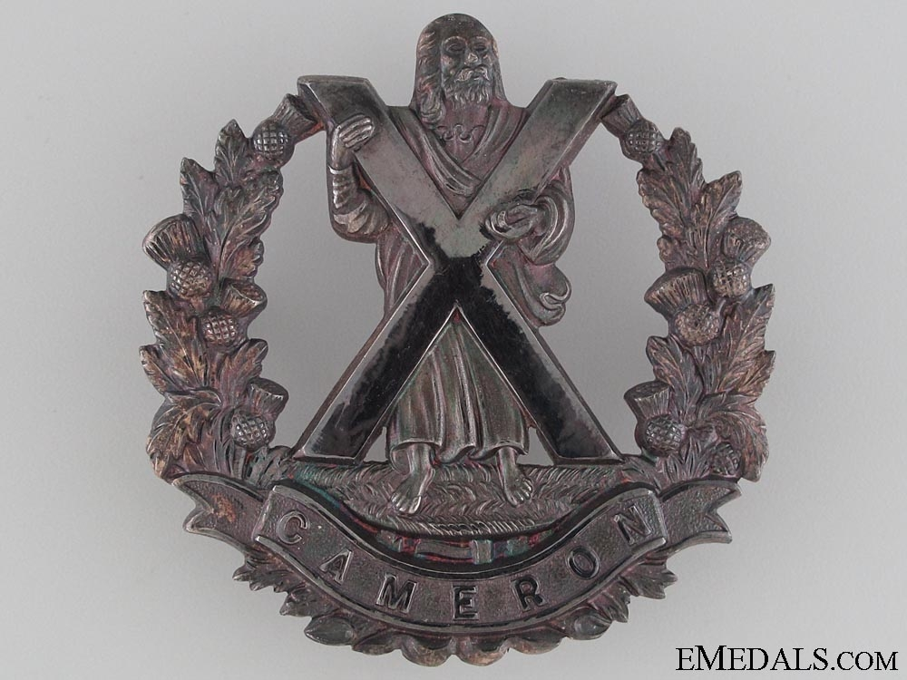 eMedals-Queen's Own Cameron Highlanders Officer's Bonnet Badge