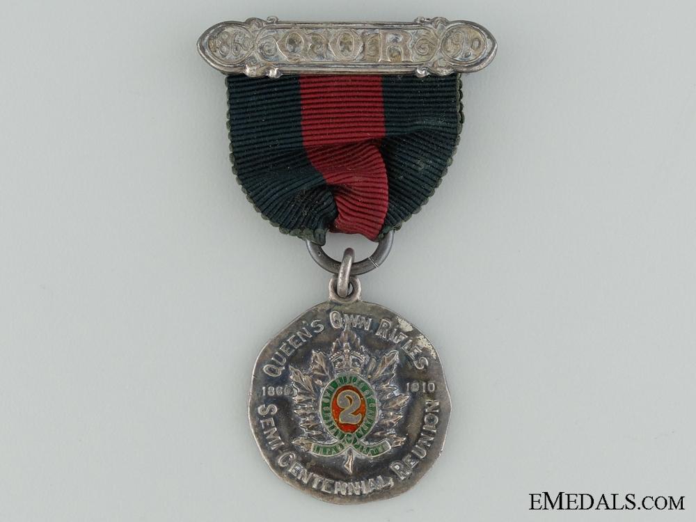 eMedals-Queen's Own Rifles Semi-Centennial Reunion Medal 1860-1910