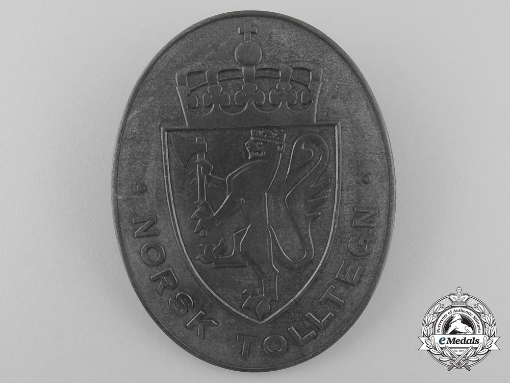 eMedals-Norway. A Quisling Issue Customs Shield, c.1940