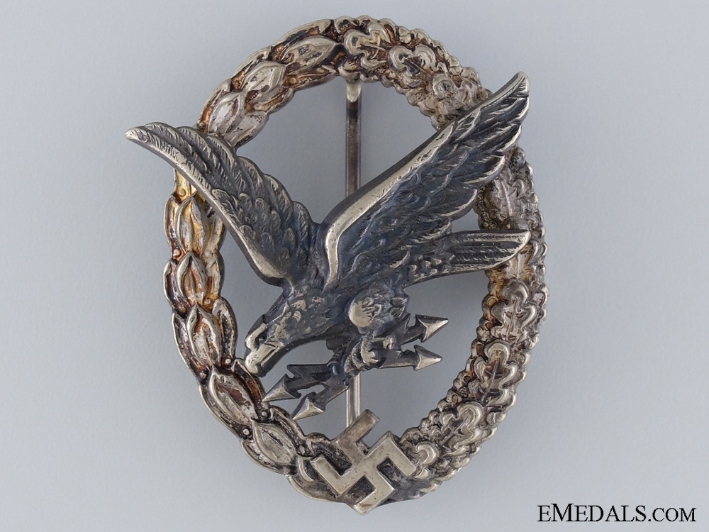 eMedals-Radio Operator & Air Gunner Badge Marked B&NL