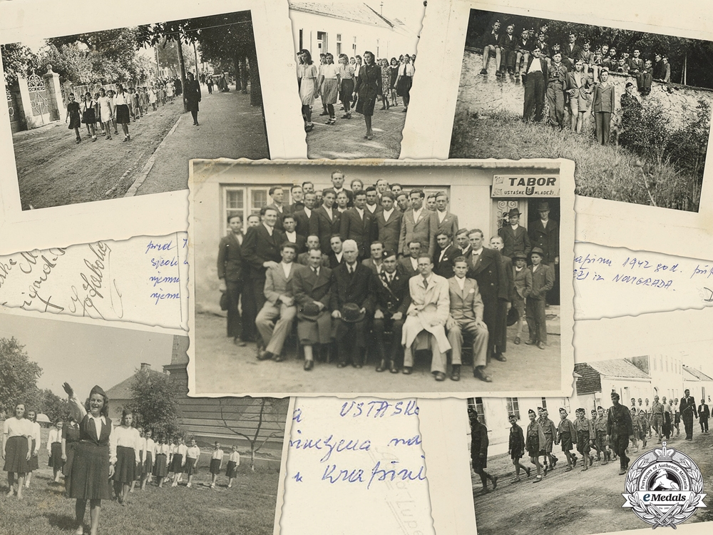 eMedals-Rare 1942 Photos of Croatian Ustasha Youth