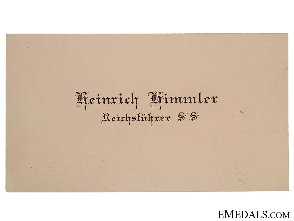 eMedals-REICHSFUHRER SS HEINRICH HIMMLER Calling - Visit Card