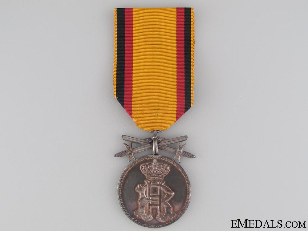 eMedals-Reuss Merit Medal with Swords; Silver Grade