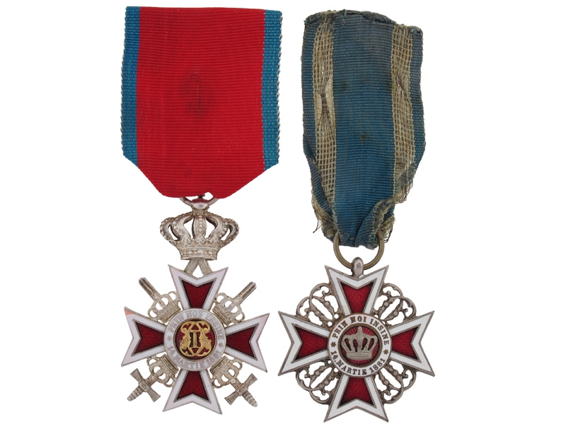eMedals-Two Royal Crown Orders of Romania