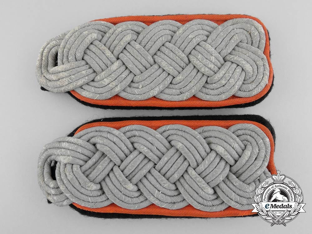 eMedals-A Pair of SS-Sturmbannfhrer (Field Police) Shoulder Boards