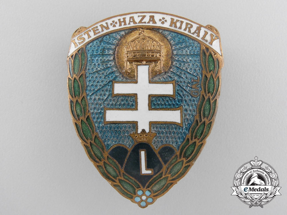 eMedals-A Hungarian Levente Movement Cap Badge