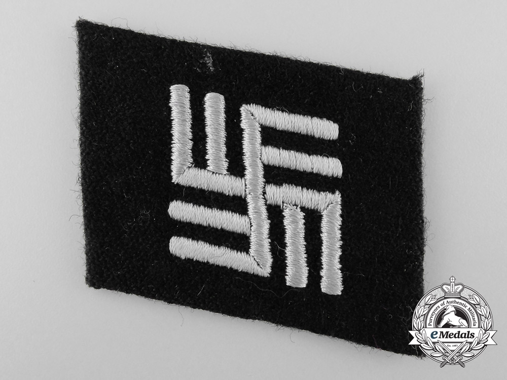 eMedals-SS Collar Tab for Luftwaffe and Army Personnel  Temporarily Attached to Duty at a Concentration Camps