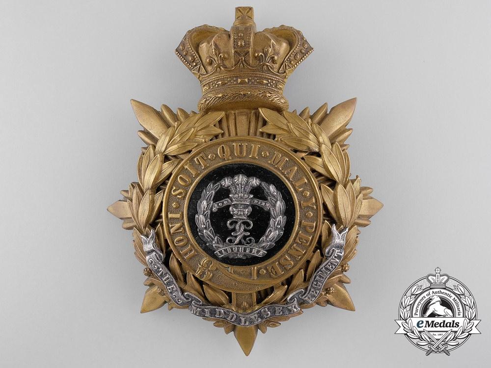 eMedals-A Victorian Middlesex Regiment Helmet Plate