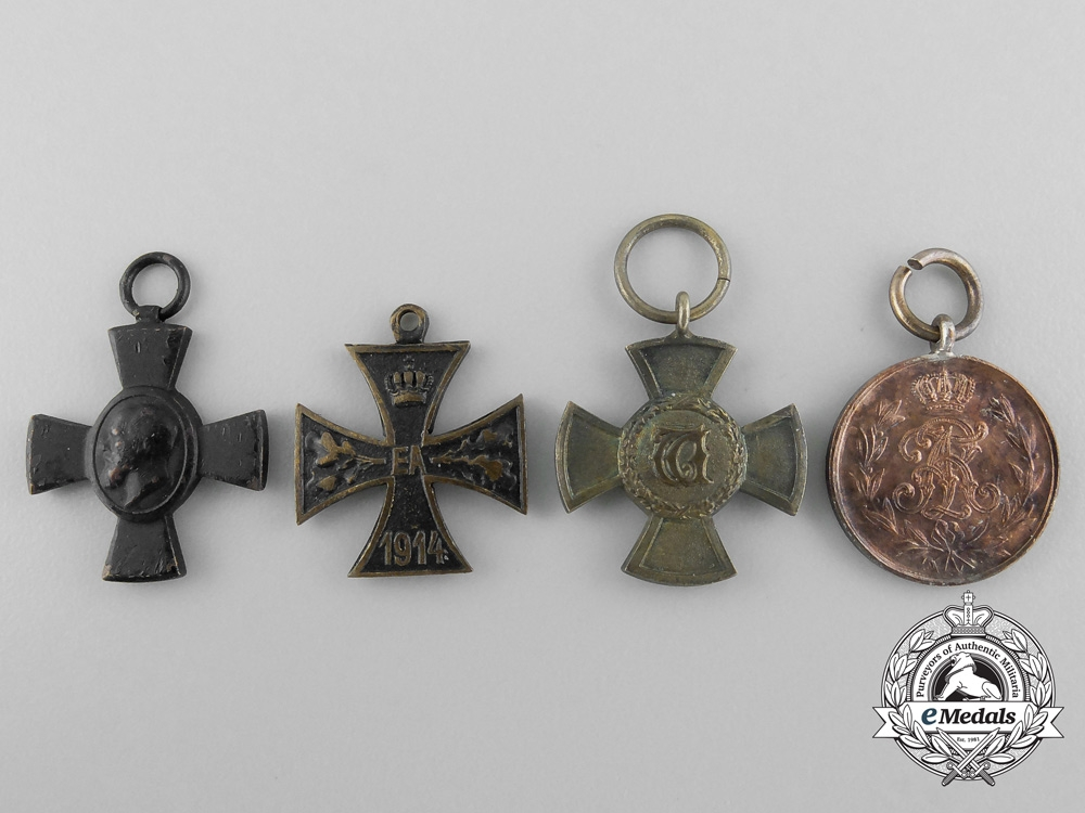 eMedals-Four Miniature German Imperial Medals and Awards