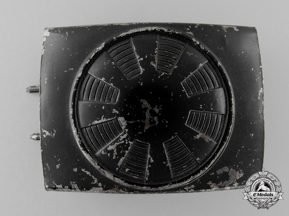 eMedals-A Post-War Allied Occupied Germany Spoked Wheel Neutral Pattern Belt Buckle; Published