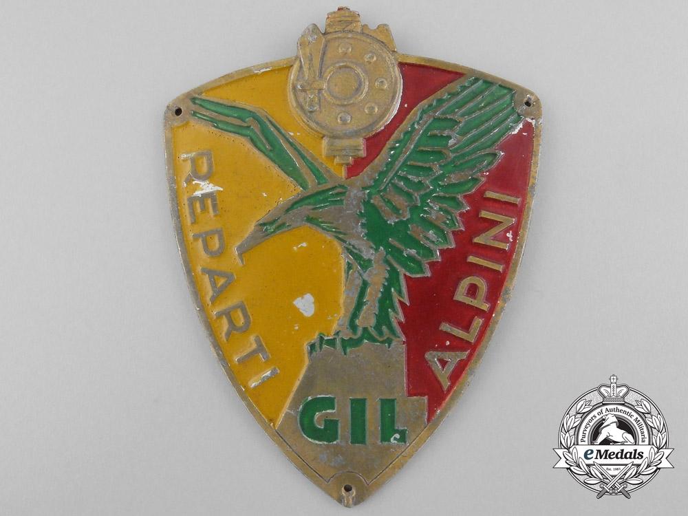 eMedals-A Second War Italian GIL Alpini Shield