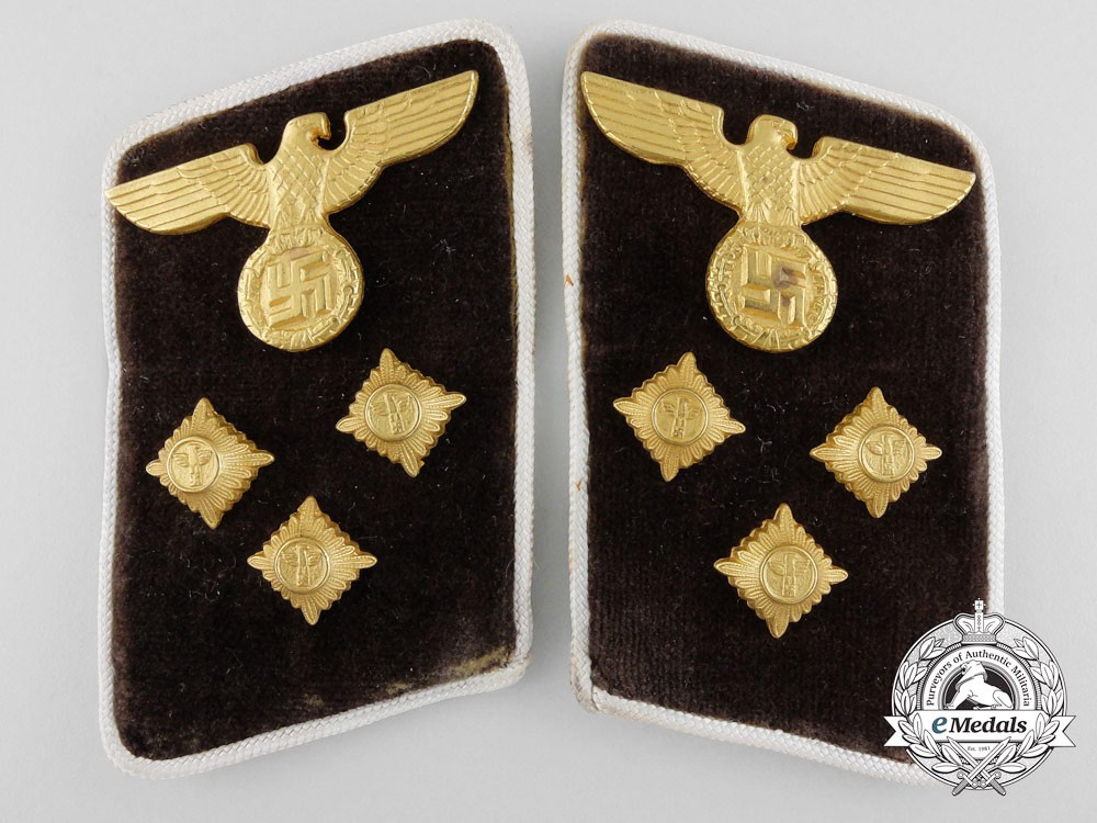 eMedals-Germany. An NSDAP District Level Action Leader Collar Pair