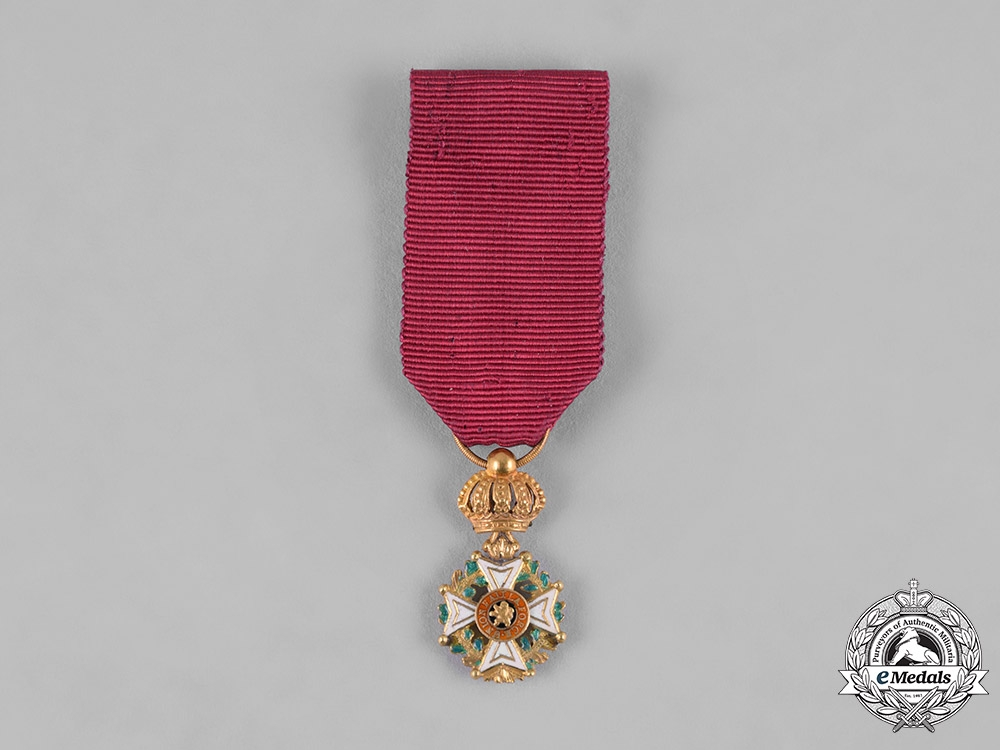 eMedals-Belgium, Kingdom. An Order of Leopold I, Miniature, in Gold