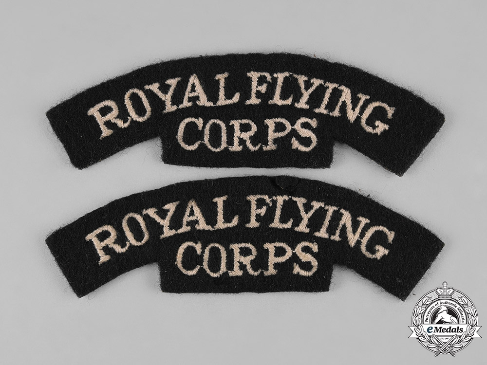 eMedals-United Kingdom. Two Royal Flying Corps Shoulder Flashes