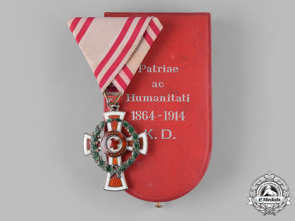 eMedals-Austria, Empire. An Honour Decoration of the Red Cross, II Class with War Decoration