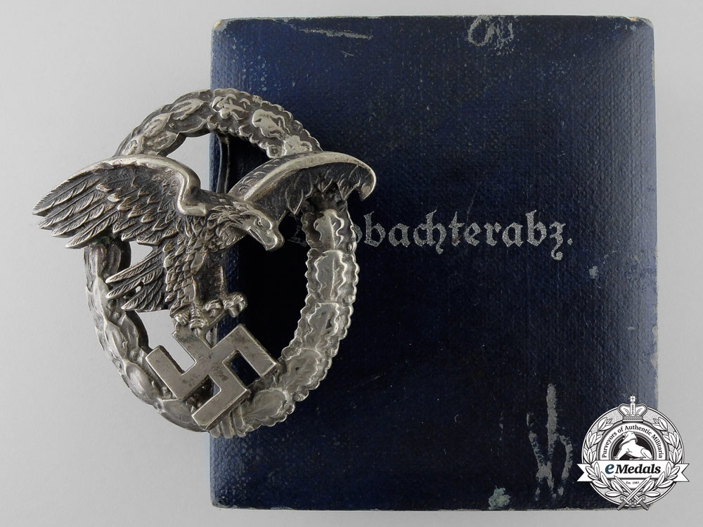 eMedals-An Early Luftwaffe Observer's Badge with Case