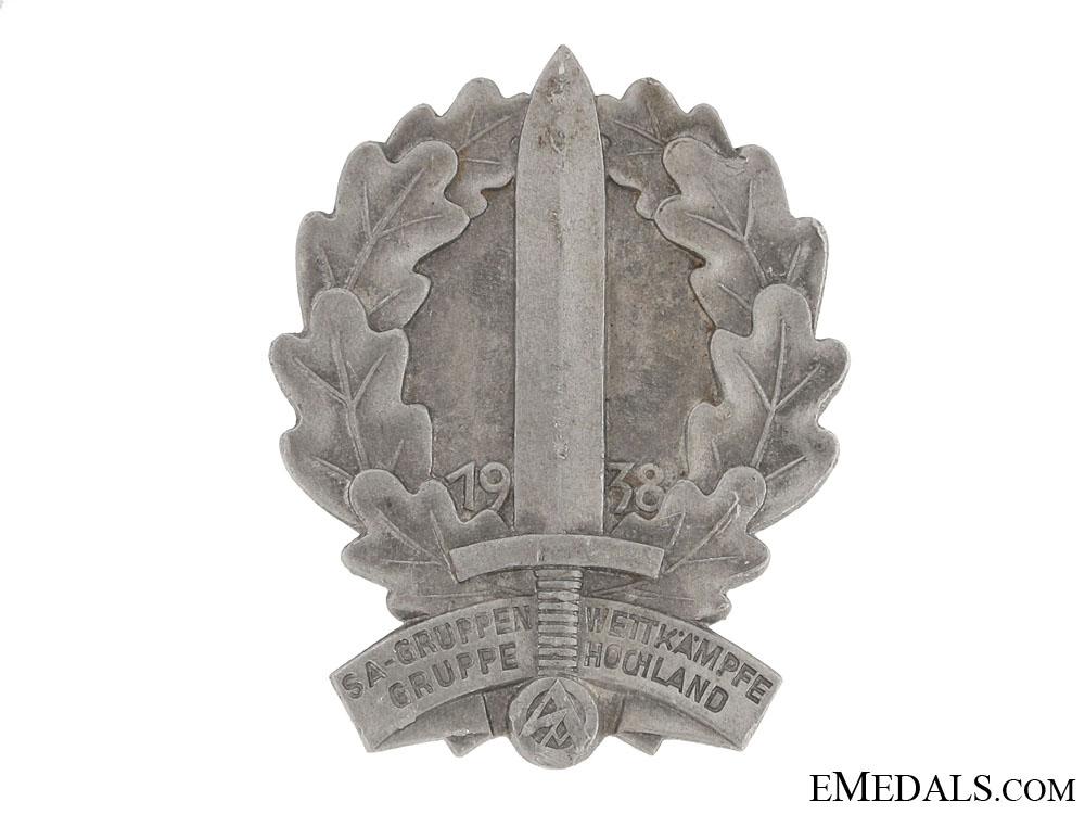 eMedals-SA Hochland Sport Competition Tinnie 1938