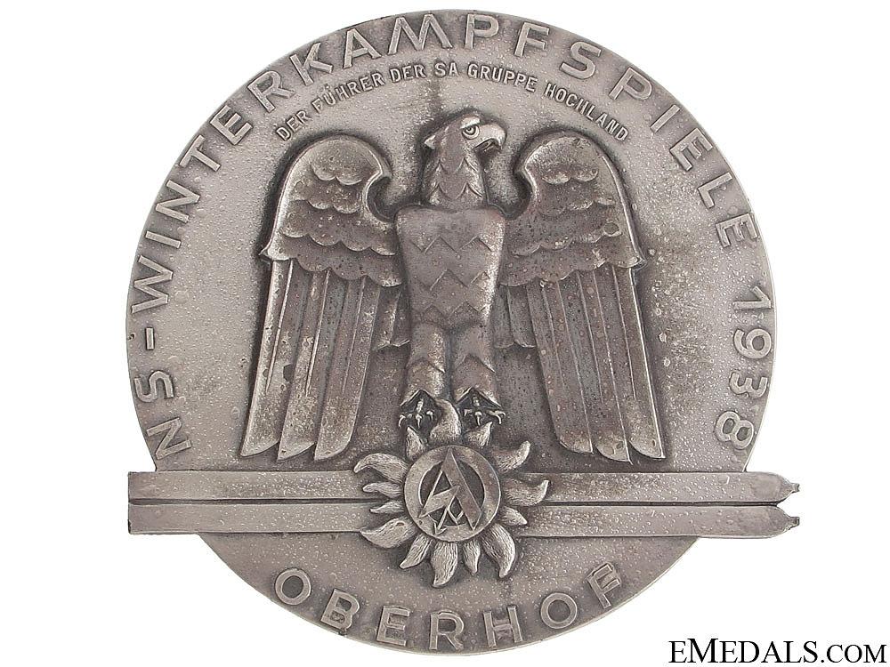 eMedals-SA Ski Medal 1938