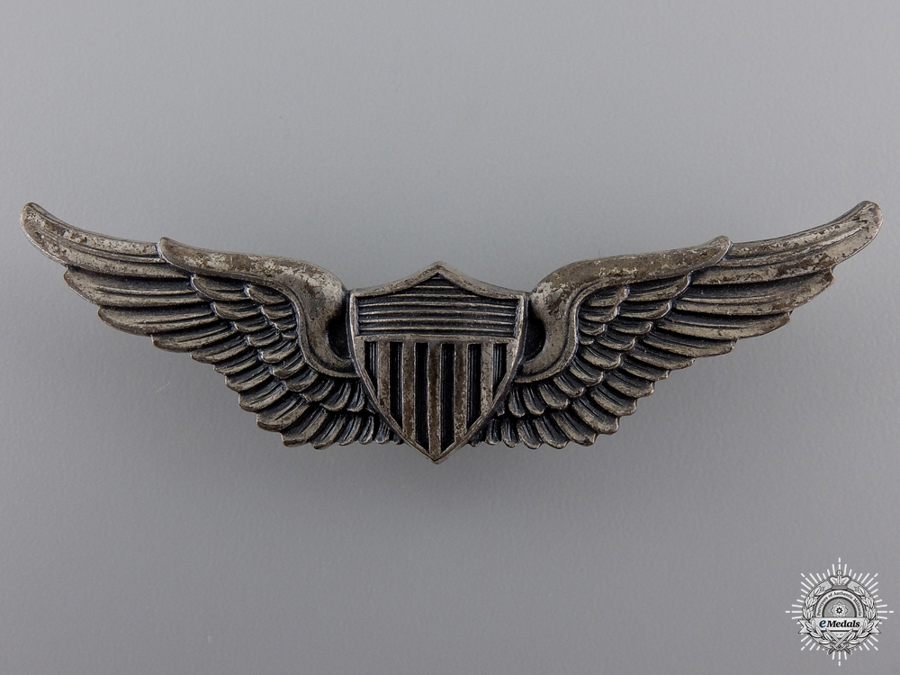 eMedals-Second War American Army Air Force Aviator Wings Badge