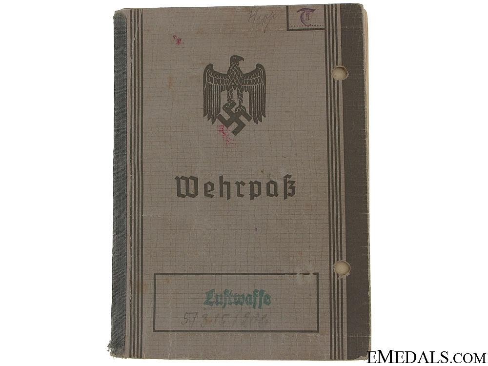 eMedals-Senior NCO Pilot Luftwaffe Wehrpass - KIA
