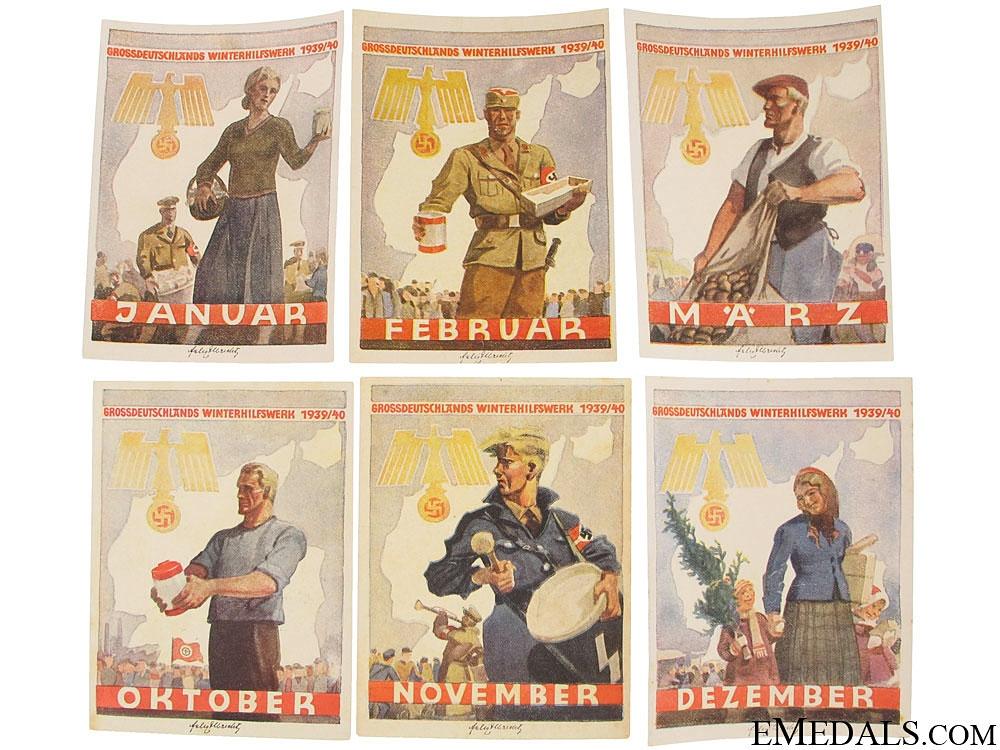 eMedals-Set of Winterhilfswerk (WHW) Handouts, 1939-1940