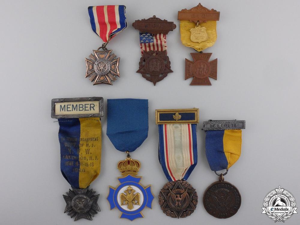 eMedals-Seven American Veteran's Associations Medals