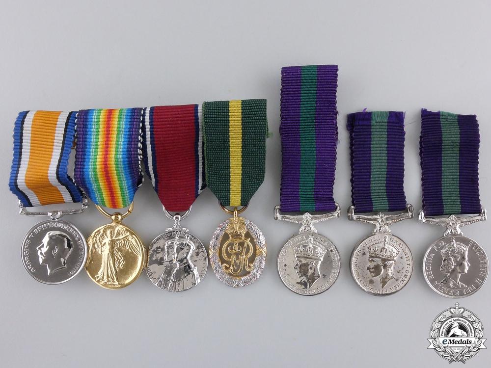 eMedals-Seven British Miniature Medals & Awards