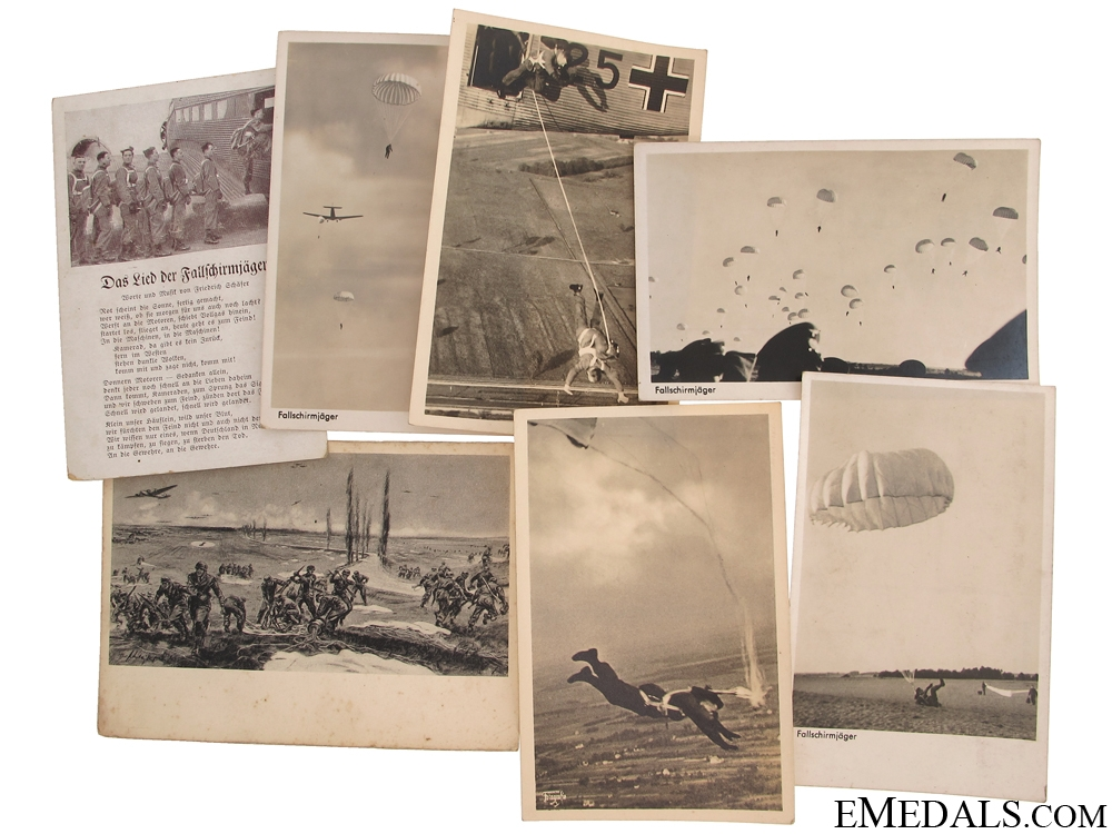 eMedals-Seven Fallschirmjäger Postcards