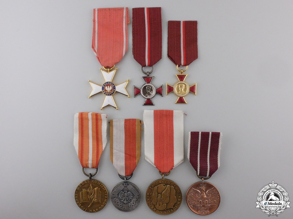 eMedals-Seven Polish Orders, Medals, and Awards