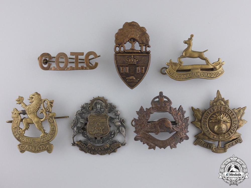 eMedals-Seven Second War Canadian Badges