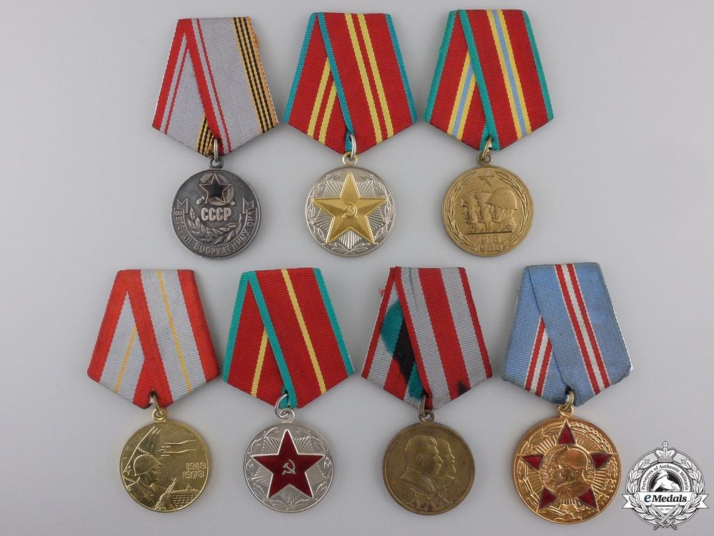 eMedals-Seven Soviet Russian Armed Forces Medals