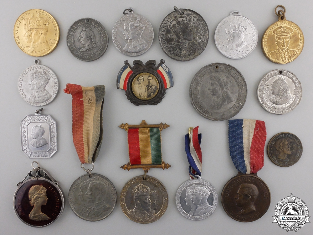 eMedals-Seventeen Coronation, Jubilee, Investiture, Royal Tour Commemorative Medals