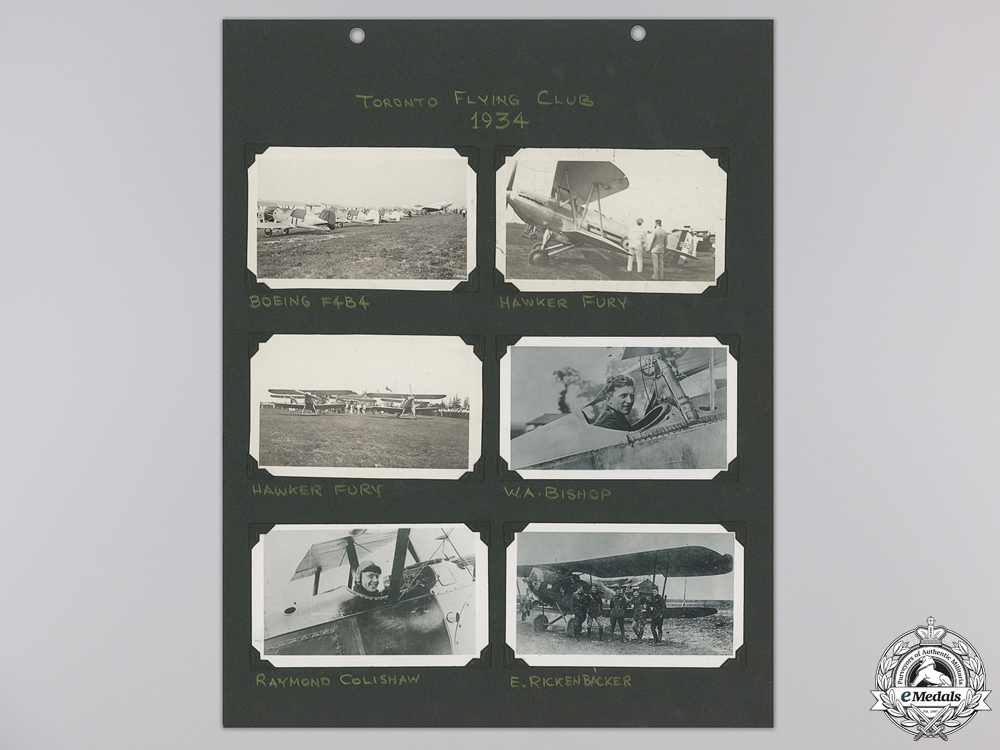 eMedals-Six 1934 Mounted Toronto Flying Club Photographs