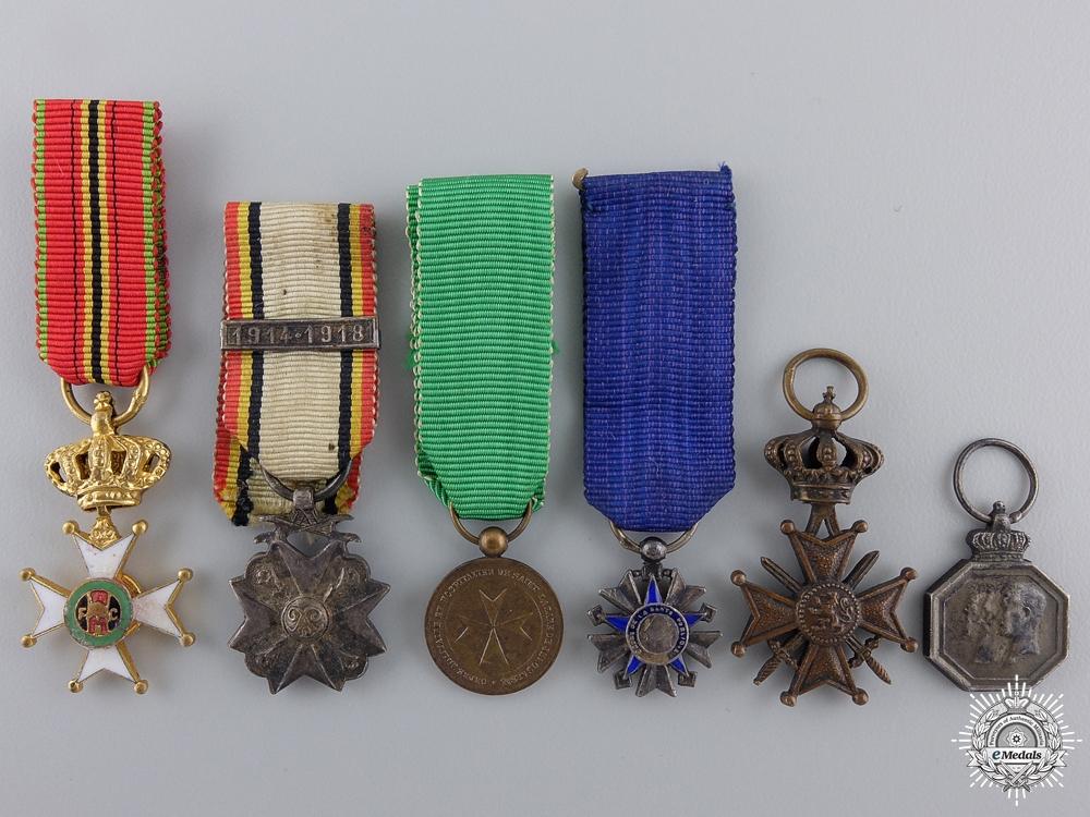 eMedals-Six Belgian Miniature Medals