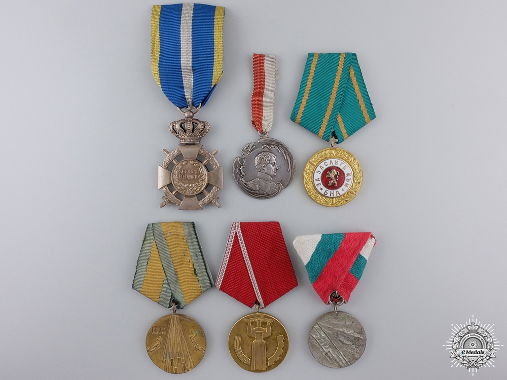 eMedals-Six Bulgarian & Romanian Medals and Awards