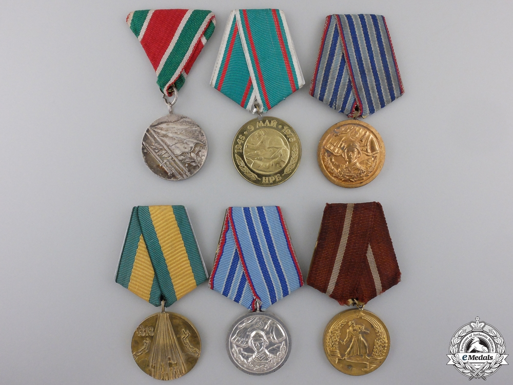 eMedals-Six Bulgarian Medals and Awards