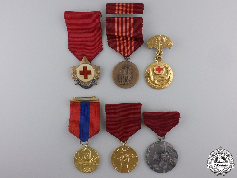 eMedals-Six Czechoslovakian Medals and Awards