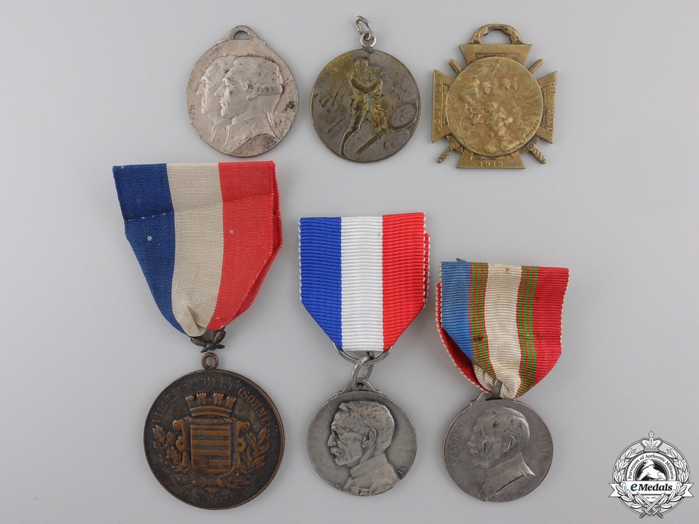 eMedals-Six French First War Commemorative Medals