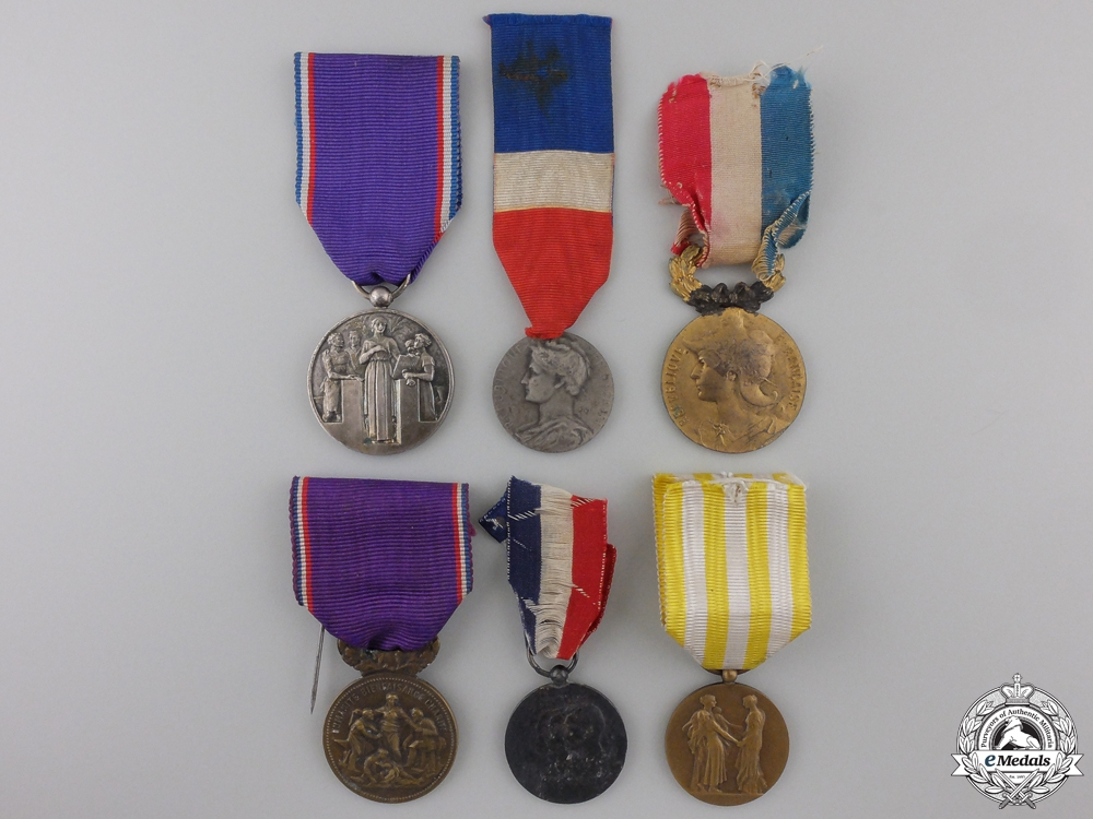 eMedals-Six French Medals and Awards