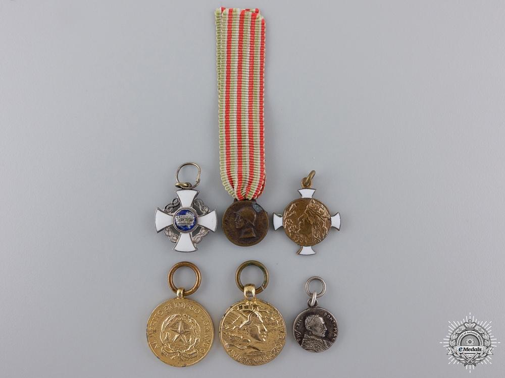 eMedals-Six Italian Miniature Medals