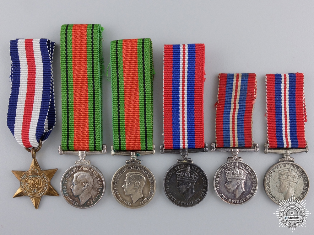 eMedals-Six Miniature Second War Service & Campaign Medals